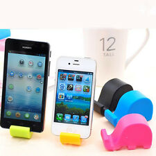 Cute Elephant Shape Mobile Cell Phone Tablet Fixed Holder Mount Stand Plastic