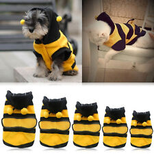 New Pet Dog Cat Puppy Warm Hoodie Coat Clothes Cute Bee Costume Apparel Outfits