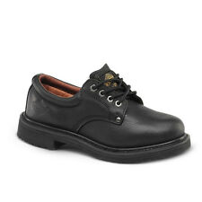 "Mens Black 4"" Slip-Resistant Leather WP Work Shoes BONANZA 415 Size 6-12 (D, M)"