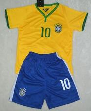 WORLD CUP NO.10 NEYMAR JR BOYS BRA HOME shirt and short 3-14 years