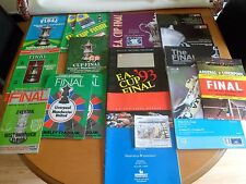 BUNDLE OF 30+ FOOTBALL PROGRAMMES ( FA CUP, CHAMPIONS LEAGUE + OTHERS )