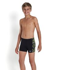 Speedo Junior Allover Panel Aqua Short.Boys Swim Shorts.Boys Swimming Trunks