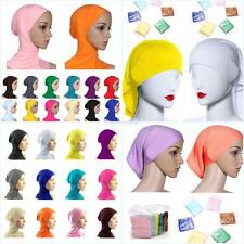 Women Under Scarf Tube Bonnet Cap Bone Islamic Head Cover Ninja Hijab Hats Caps