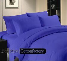 Cyber Monday Deal !800-1000-1200TC Egyptian Blue Duvet & Sheets Solid 100%Cotton