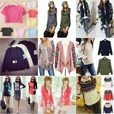 Women's Long Sleeve Knitwear Jumper Cardigan Long Coat Jacket Sweater Outerwear