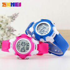 SKMEI LED Chronograph Analog Date Quartz Wristwatches for Boys Girls Kids Gifts