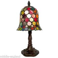 "TIFFANY STYLE TABLE LAMP 12.5"" SPOT DESIGN 8""GLASS SHADE + BULB * BUY 2 SAVE 10%"
