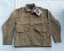NWT Youth Marvel Spider Sense Spiderman Tan Denim Jacket Size 4