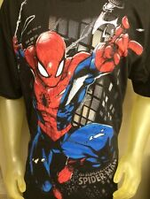 Marvel The Amazing Spiderman Mens T-Shirt Full Front Graphic Tee NWT Spidey Web