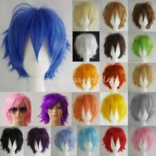 Cosplay Short Wig Women Men Straight Anime Costume Soft Halloween Full Hair Wigs