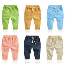 Toddler Kid Boy Girl Summer Trousers Unisex Baby Cotton Trousers Harem Pants New