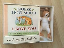 GUESS HOW MUCH I LOVE YOU BOARD BOOK AND TOY GIFT SET BNIB