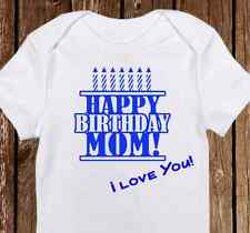 Happy Birthday Mommy Onesie - Custom Made for Mom's Birthday- Baby Boy or Girl