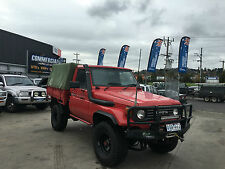 TOYOTA LANDCRUISER 1991 75 SERIES 4.2L TURBO DIESEL UTE TRAY CAB CHASSIS 79 80