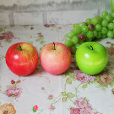 Newest 1/5/10pc Decorative Artificial Apples Faux Fake Plastic Fruit House Decor