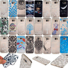 Crystal Clear TPU Rubber Case for LG iPhone Huawei Phones Patterned Cover Skin