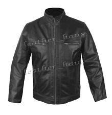 Men's Stylish Rock Star Motorcycle/Biker Genuine Leather Fashion Jacket #512