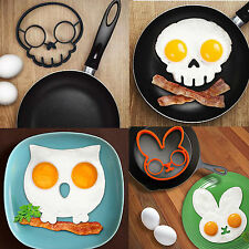 Breakfast Fried Egg Mold Silicone Pancake Egg Ring Shaper Funny Cooking Tool AA