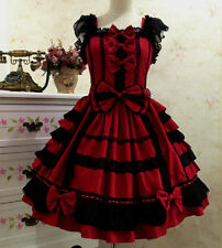 Japanese Party Dress Gothic Lolita Dress Christmas Sweet Cosplay Dress Costume.
