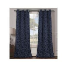 Curtain Panel Pair Thermal Insulated Blackout Bedroom Living Room Kitchen Dorm