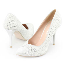 ladies white classical pointy toes pumps prom high heels wedding dress shoes hot