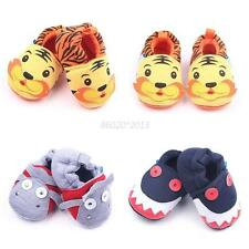 0-1Y Baby Boys Girls Cartoon Slip On Shoes Infant Slipper Soft Sole Prewalkers