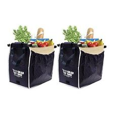Telebrands Insulated Reusable Grab Bag Grocery Shopping Tote Holds Up To 40 lbs