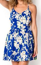 Floral criss cross open back dress small medium large forever 21 nasty gal Asos