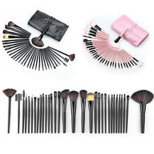 32pcs New Pro Eyebrow Shadow Soft Cosmetic Makeup Brushes Set Kit + Pouch Bag