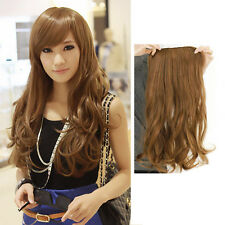 Long 55cm Width 25cm Lady Sexy Stylish Long Curl Wavy Clip-on Hair Extension Wig