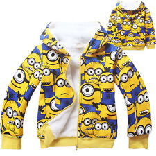 Despicable Me Boys' Kids' Fleece Hoodies 3-10T Fall Winter Outerwear Jackets