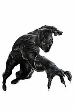 "Black Panther SuperHero Movie Silk Cloth Poster 20x13"" 28x18"" 36x24"" Decor 09"