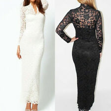 Fashion Womens Floral Lace Formal Ball Party Cocktail Wedding Prom Gown Dress
