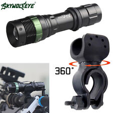 5000 Lumens CREE XML T6 LED Zoomable Flashlight Bike Bicycle 360° Mount Clip HOT