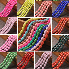 300Pcs 7x9mm 8x11mm 10x14mm Smooth Teardrop Crystal Loose Spacer Glass Beads