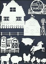LT 23 PC SAMPLER-VARIED FARM DIE CUTS* HOUSE BARN COW HORSE FENCE TOP *READ POST