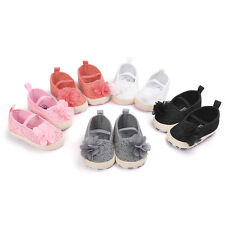 Baby Infant Girl Nice Soft Sole Shoes Toddler Crib Flowers Anti-slip Pre-walkers
