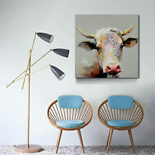 Oil Painting Modern Animal cubism-30x30inch Wall Art Milk Cow