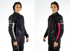 Viper Jessie Ladies Motorcycle Jacket Waterproof Womens Motorbike Black Pink New