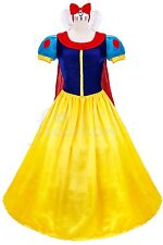 Snow White Princess Costume Set Adult Fairytale Halloween Party Ball Gown Dress