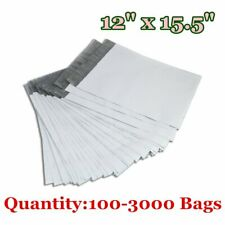 12 x 15.5 Poly Mailers Mailing Envelopes Self Sealing Plastic Bags Free Shipping