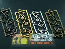✿ 10 ANTIQUE BRONZE GOLD RED COPPER TIBETAN SILVER CONNECTOR FLOWER CHARMS ✿