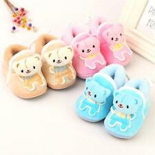 6-12M Bear Pattern Slippers Shoe Baby Boy Girl Baby Ankle Booties Soft Sole Crib