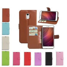 Litchi Leather wallet Flip stand pouch Cover Skin Case For Xiaomi Redmi Note 4 M