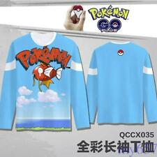 Anime Pokemon Magikarp Long Sleeve Adult Sweater Clothing T Shirt Free Shipping