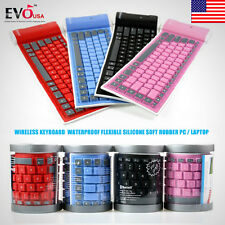 Bluetooth Waterproof Flexible Wireless Keyboard  Silicone Soft Rubber PC/Laptop
