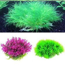 New Plastic Artificial Water Green Grass Plant Aquarium Fish Tank Ornament Decor