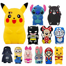 Disney Cartoon Soft Silicone Rubber Gel Case Cover For iPhone Samsung Huawei AA