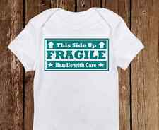 "Unique ""Fragile Handle with Care"" Unisex Baby Onesie - Baby Clothes - Newborn"