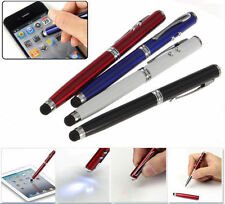4in1 LED Laser Pointer Torch Touch Screen Stylus Ball Pen for iPhone4 5S 6S PLUS